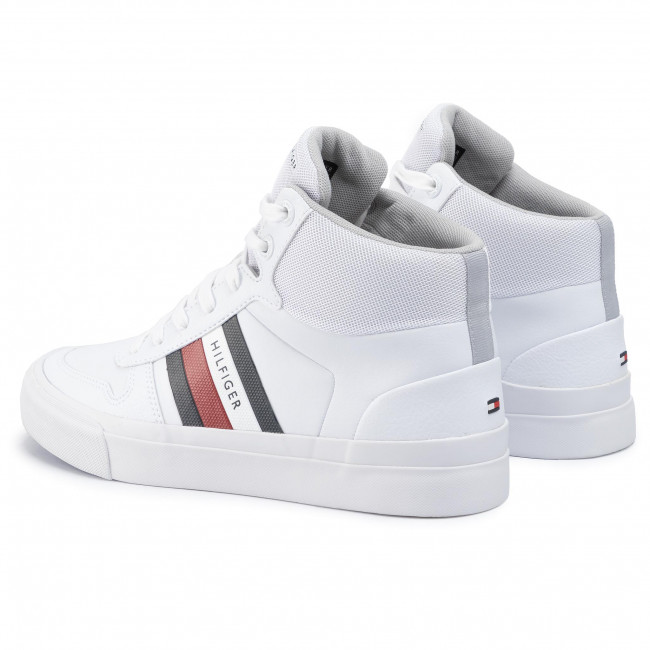 Sneakers TOMMY HILFIGER Core Corporate High Modern Vulc FM0FM02650 White YBS