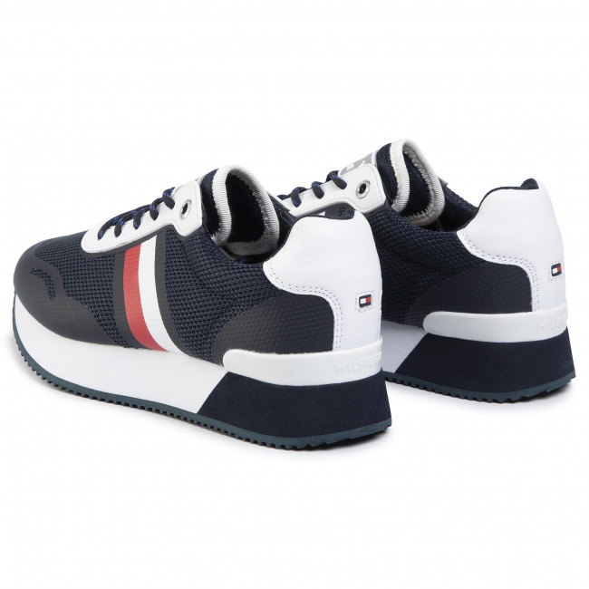 Tommy Hilfiger Mesh City Sneaker Womens White Fashion Trainers