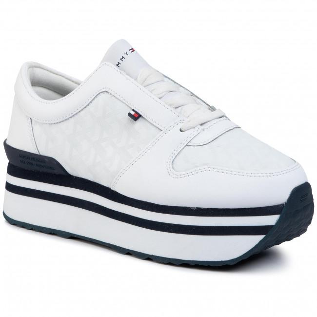 Tommy Jacquard Flatform Sneaker