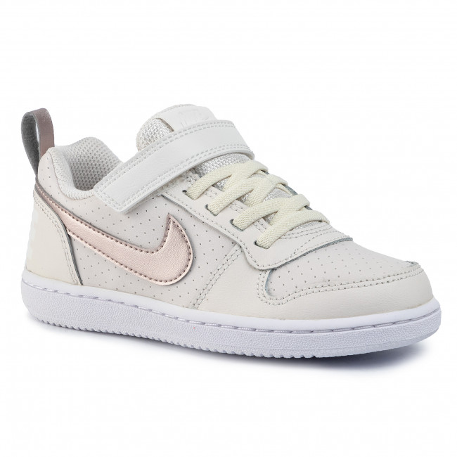 Shoes NIKE Court Borough Low (Psv) 870028 007 Mtlc Red BronzeWhite