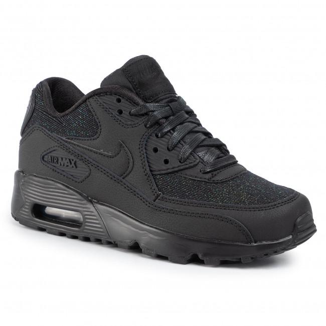 Shoes NIKE Air Max 90 Se Mesh (GS) 880305 002 BlackBlackAnthracite