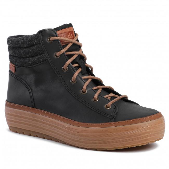Sneakers KEDS High Rise Lea Wool WH55804 Black Sneakers
