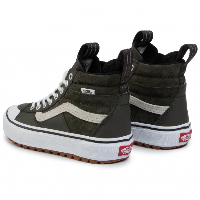 VANS Sk8 Hi Forest Night & True White Shoes GREEN