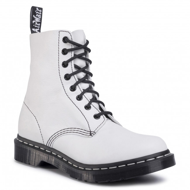dr martens white velcro boots new