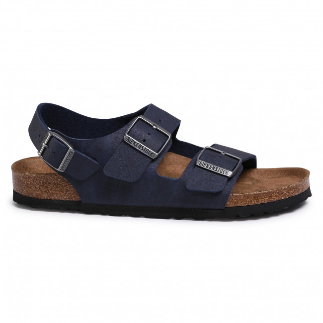 Sin personal bostezando Avanzar  Sandals BIRKENSTOCK - Milano Bs 1018177 Saddle Matt Navy - Sandals - Mules  and sandals - Men's shoes | efootwear.eu