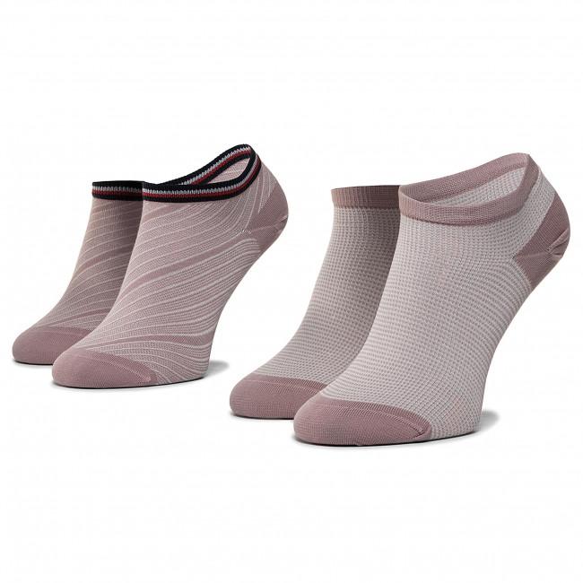 2 Pairs of Women's Low Socks TOMMY HILFIGER 320302001 Woodrose 012