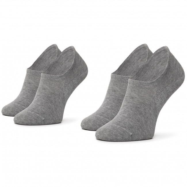 2 Pairs of Men's Low Socks TOMMY HILFIGER 382024001 Middle Grey Melange 758