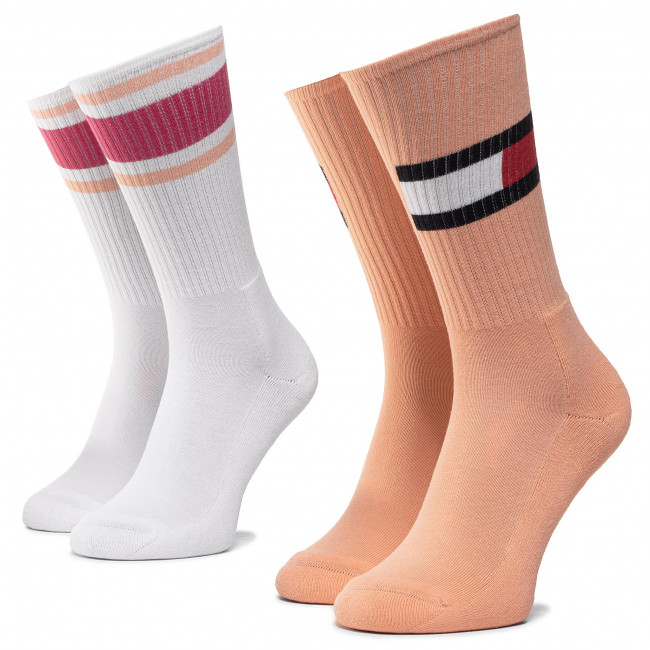 2 Pairs of Women's High Socks TOMMY HILFIGER 394020001 Lady Pink 026
