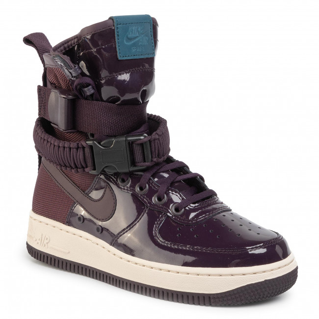 Shoes NIKE Sf Af1 Se Prm AJ0963 600 Porto WinePort WineSpace Blue