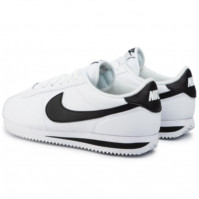 pegar Alfabeto regla  Shoes NIKE - Cortez Basic Leather 819719 100 White/Black/Metallic Silver -  Sneakers - Low shoes - Men's shoes   efootwear.eu
