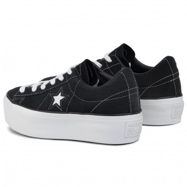 Plimsolls CONVERSE One Star Platform Ox 563869C Black