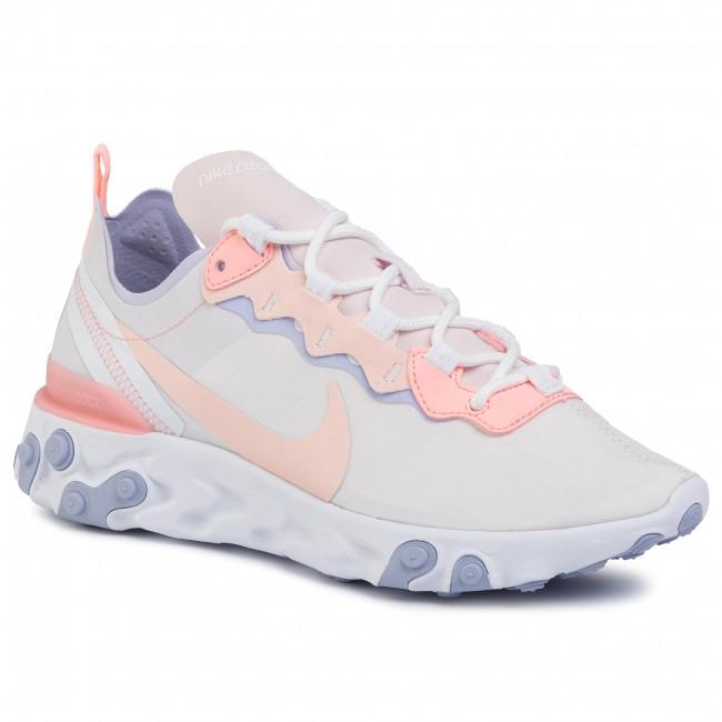Shoes NIKE React Element 55 BQ2728 601 Pale PinkWashed Coral