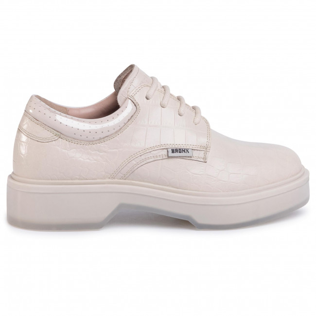 Oxfords Bronx - 66321-lg Off White 05 Low Shoes Women's