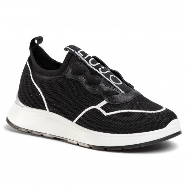 Women/'s Sneakers LIU JO Asia 04 Slip On Fabric Black