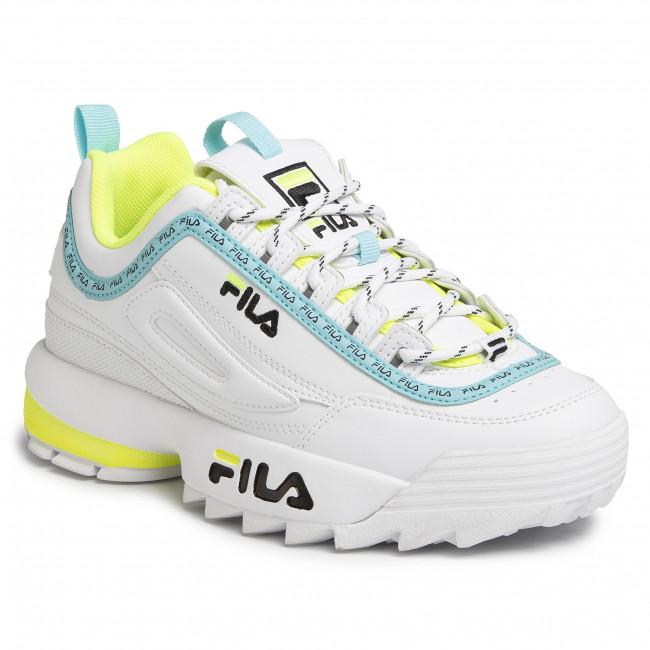 fila neon green shoes