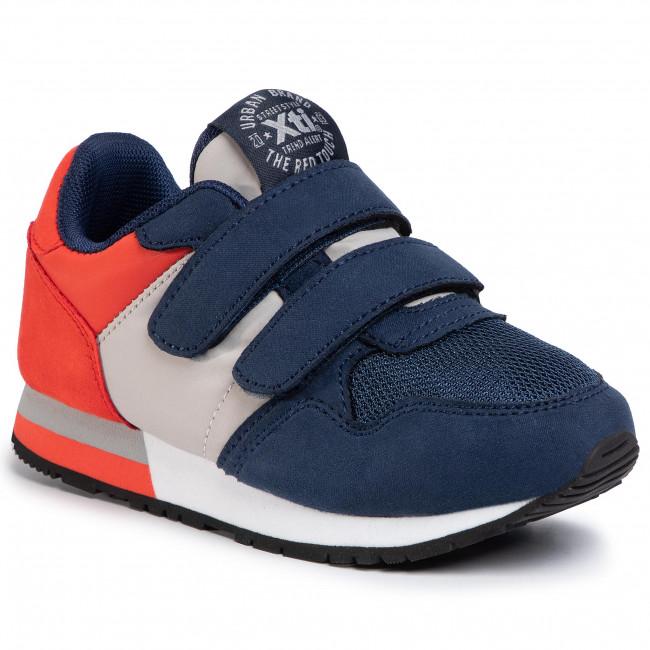 Sneakers XTI - 57082 Navy/Grey - Velcro