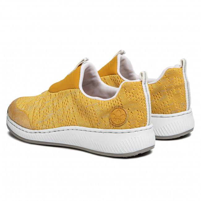 Sneakers RIEKER N5595 68 Gelb Sneakers Low shoes 7sNaT
