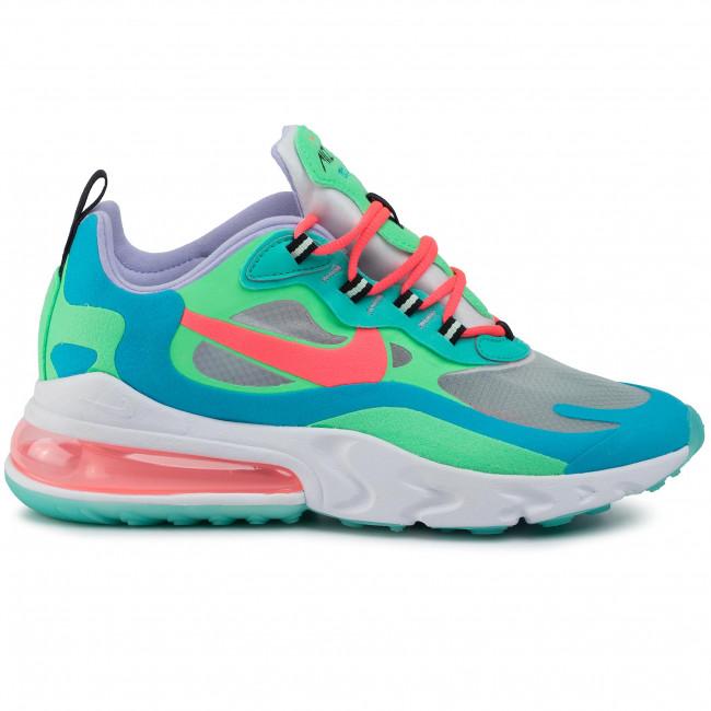 Shoes NIKE Air Max 270 React AT6174 300 Electro GreenFlash Crimson