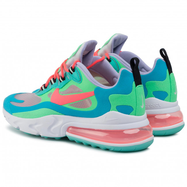 Shoes NIKE Air Max 270 React AT6174 300 Electro GreenFlash Crimson