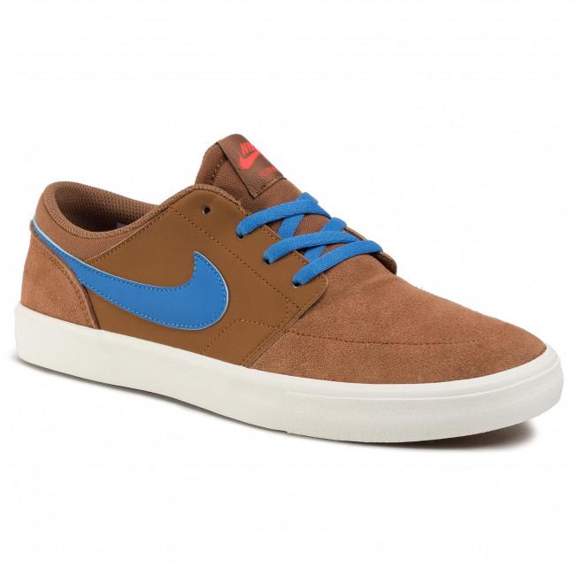 Shoes NIKE - Sb Portmore II Solar 880266 205 British Tan/Pacific Blue
