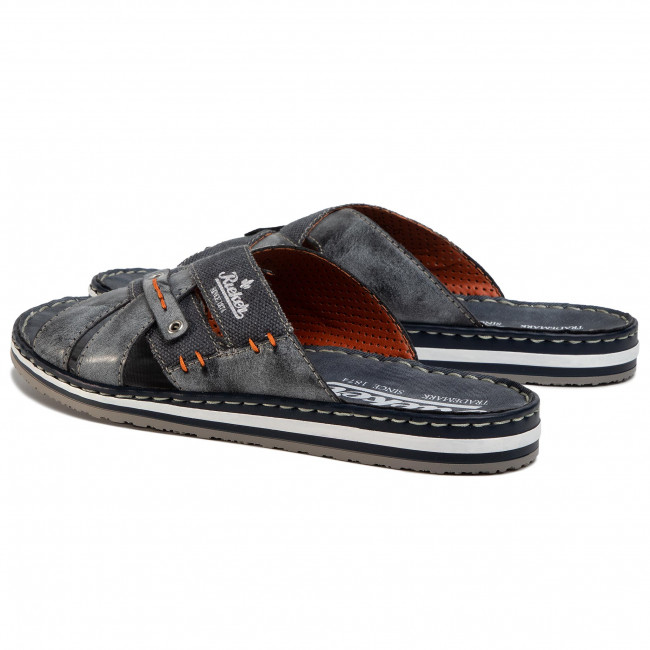 Slides RIEKER 21599 14 Blau Clogs and mules Mules and lY68I