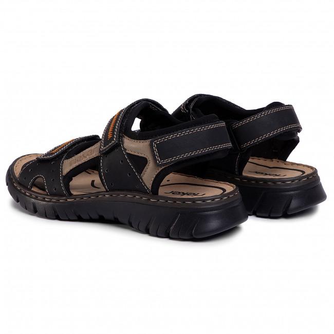 Sandals RIEKER 26757 01 Schwarz Kombi Sandals Mules m9mUP