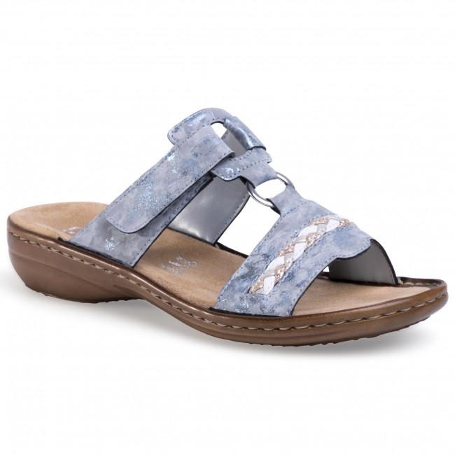 Slides RIEKER - 60888-12 Blau - Casual