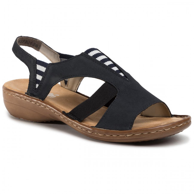 Sandals RIEKER 608Y7 14 Blau