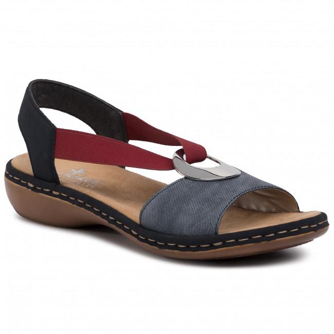 Sandals RIEKER 659Q9 14 Blau Kombi