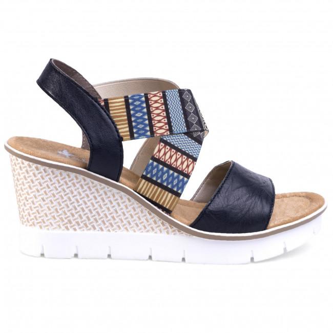 Sandals RIEKER 68518 14 Blau Kombi