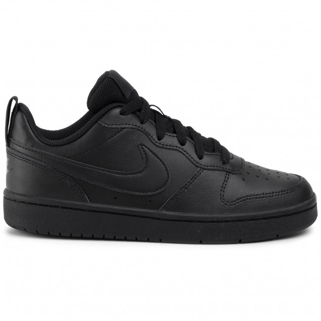 Shoes NIKE - Court Borough Low 2 (GS) BQ5448 001 Black/Black/Black