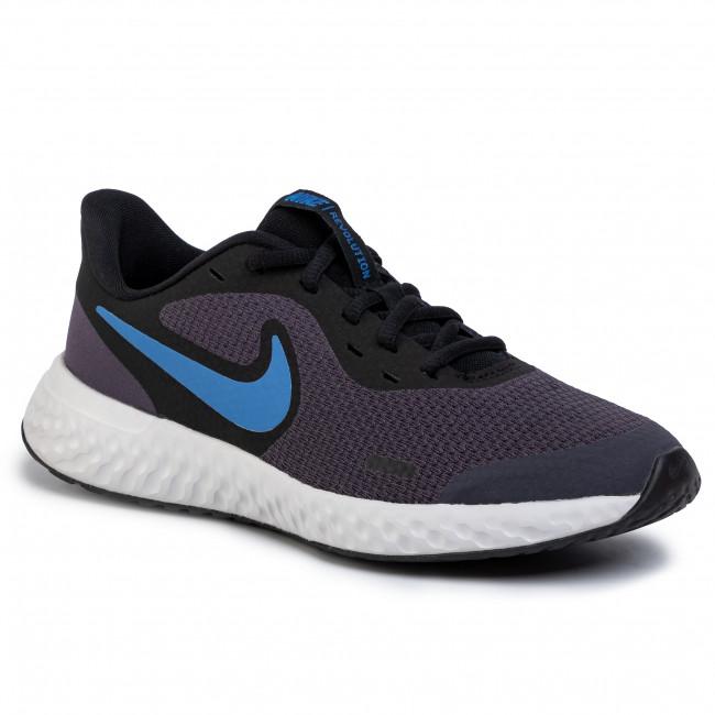 Shoes NIKE Revolution 5 (GS) BQ5671 009 GridironMountain BlueBlack
