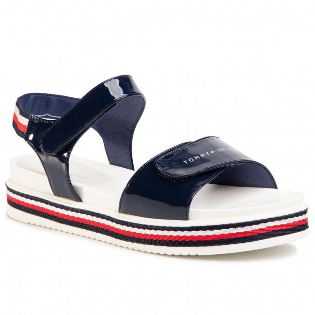 Sandals TOMMY HILFIGER - Platform Velcro Sandal Blue T3A2-30650-0774 D Blue 800