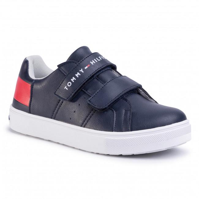 Sneakers TOMMY HILFIGER - Low Cut Velcro Sneaker T3B4-30719-019 S Blue/White//Red Y004