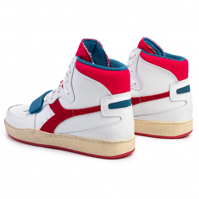Sneakers DIADORA Mi Basket Used 501.174766 C0680 WhiteDark Red