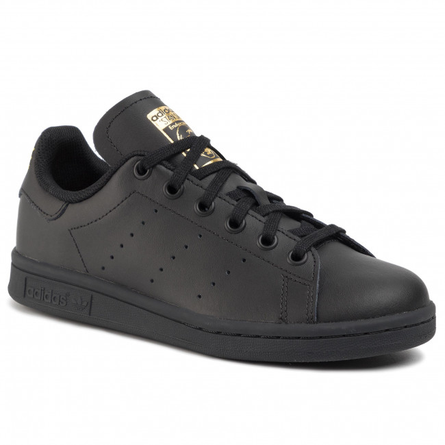 Shoes adidas - Stan Smith J EF4914 Cblack/Cblack/Goldmt