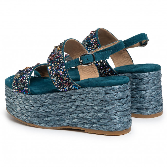 Espadrilles Alma En Pena - V20362 Suede Ocean Mules And Sandals Women's Shoes
