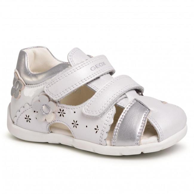 Implacable paso Qué  Sandals GEOX - B Kaytan G. A B0251A 044AJ C0007 White/Silver - Sandals -  Clogs and sandals - Girl - Kids' shoes | efootwear.eu