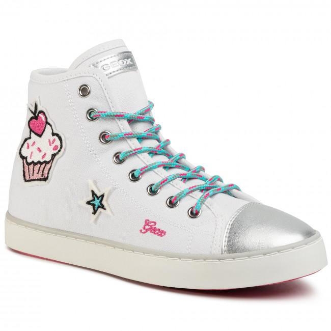 Sneakers GEOX - J Clak G. D J0204D 00010 C0653 D White/Multicolor