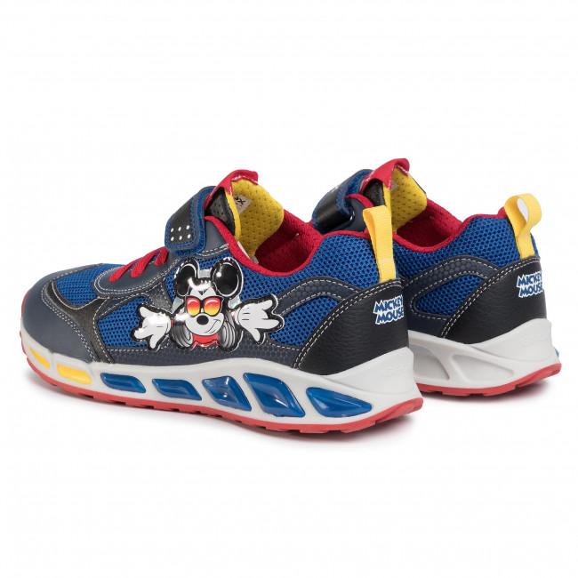 Sneakers GEOX J Shuttle B. A J0294A 01454 C0735 DD NavyRed