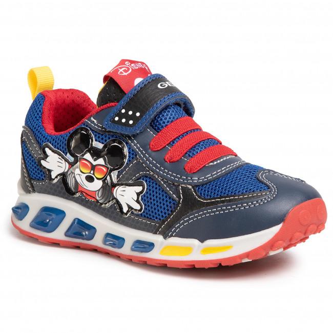 Sneakers GEOX J Shuttle B. A J0294A 01454 C0735 S NavyRed eeLsT