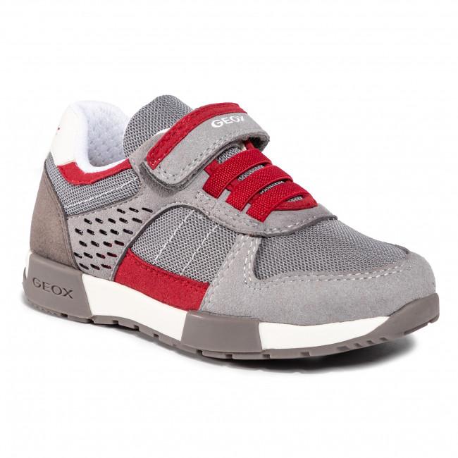 Sneakers GEOX - J Alfier B. A J826NA 014AF C0051 S Grey/Red