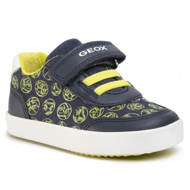 Sneakers GEOX - B Gisli B. A B021NA 05410 C0749 M Navy/Lime