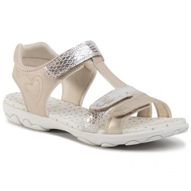 Sandals GEOX - J Sandal Cuore B J0290B 00454 C0041 D Gold/Beige