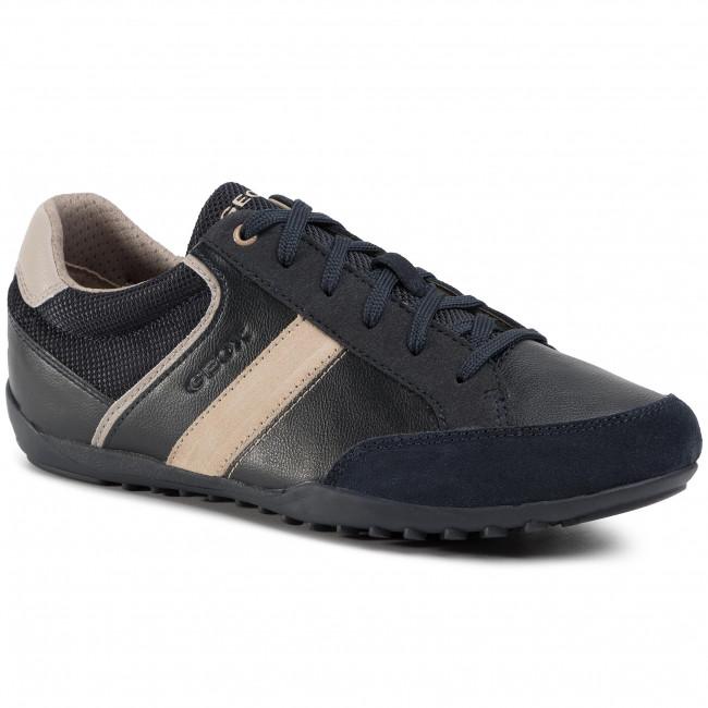 Sneakers GEOX - U Garlan B U023GB 05422 CF4H6 Navy/Lt Taupe