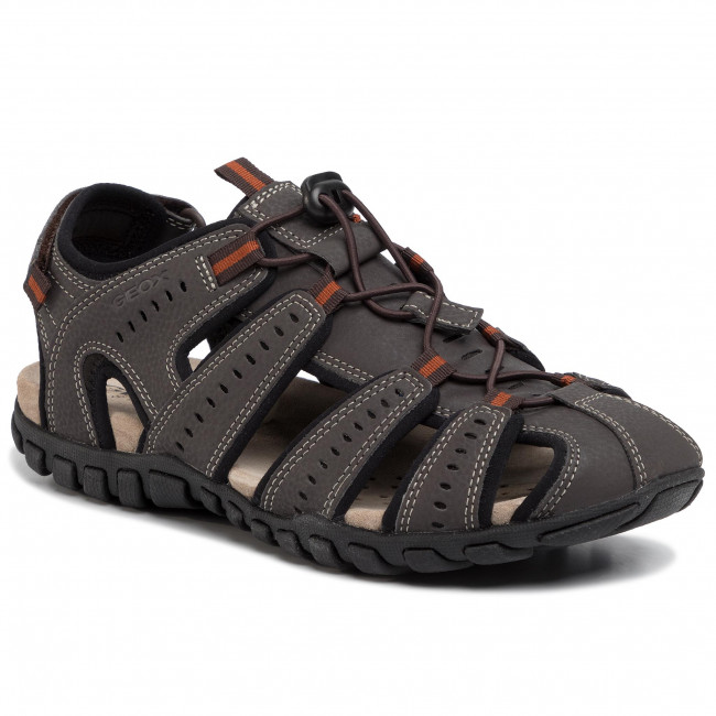 Sandals GEOX - U Sand.Mito C U02Q2C 00050 C6T9B Dk Coffee/Black
