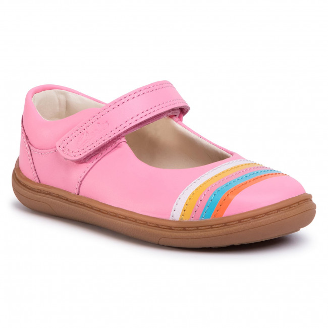Shoes CLARKS - Flash Rain T 261503906 Bright Pink Leather