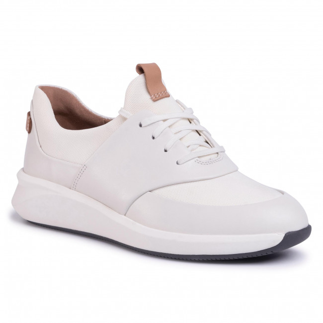 clarks white leather sneakers