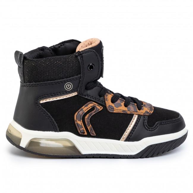 Sneakers GEOX J Inek G.A J94ASA 0AU54 C9999 S Black 2sBDi