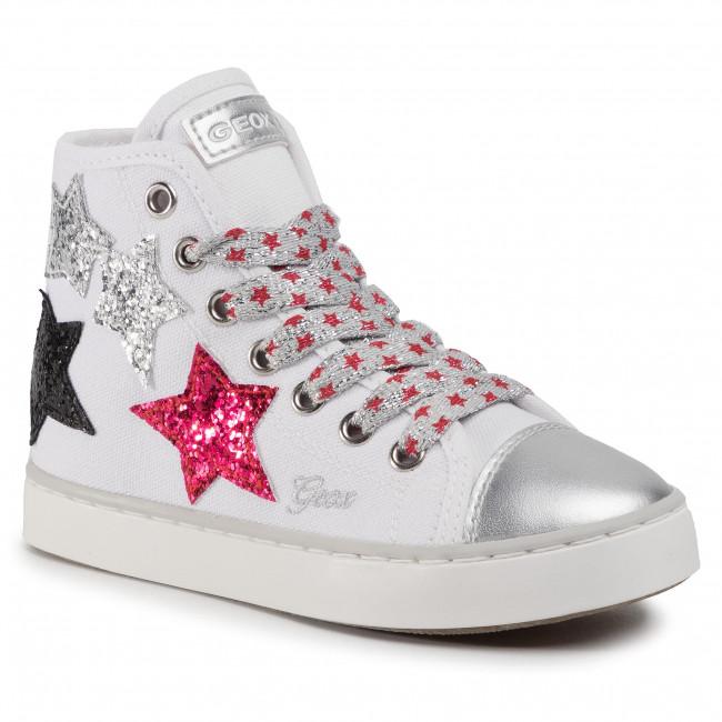 Sneakers GEOX - J Ciak G. D J0204D 00010 C0007 S White/Silver